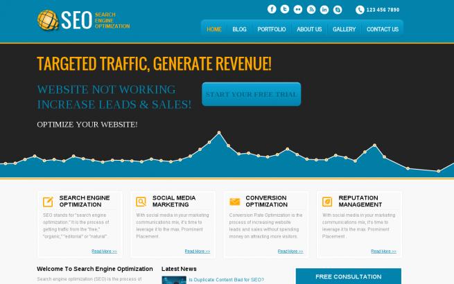 Wordpress Theme: SEO Wordpress Template