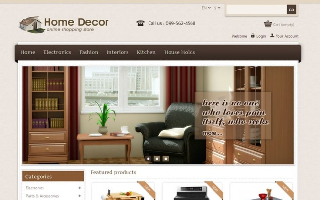 Prestashop Template: Home Decor