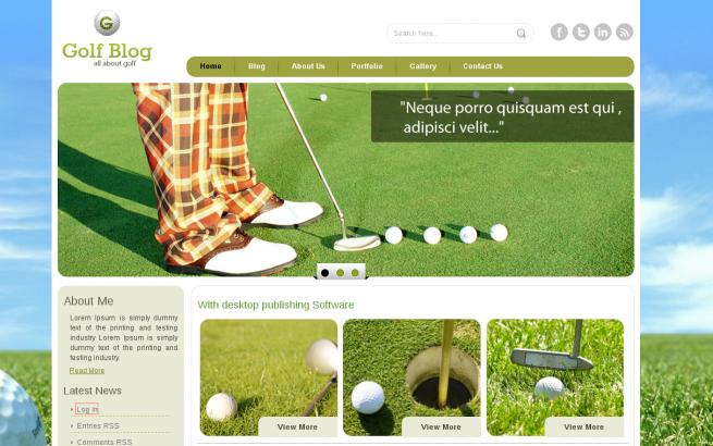 Wordpress Theme: Golf Wordpress Theme