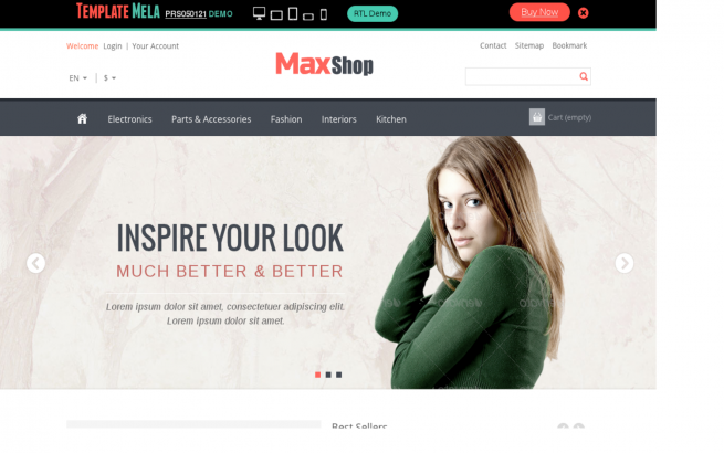 Prestashop Template: Max Shop best selling Theme