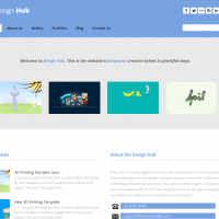 Templatemela Wordpress Theme: Design Hub Wordpress Theme