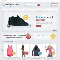 Templatemela Magento Template: Apparel