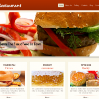 Wordpress Free Theme - Restaurant Wordpress Template