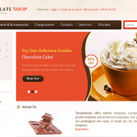 Templatemela Opencart Template: Chocolate Store