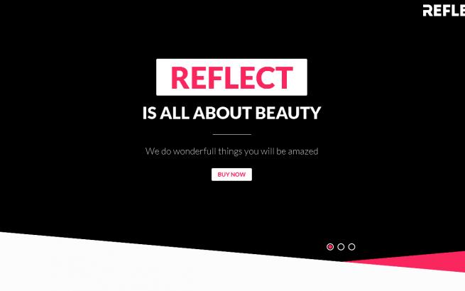 Joomla Template: Reflect - Creative One Page Joomla Theme