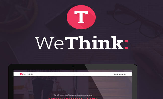 Joomla Template: Wethink - Single & Multi Page Joomla Theme