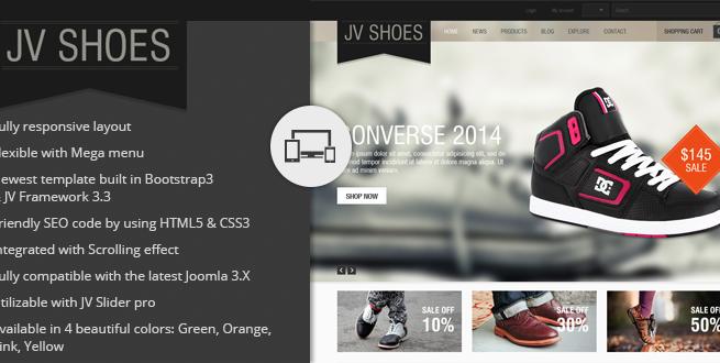 Joomla Template: JV Shoes