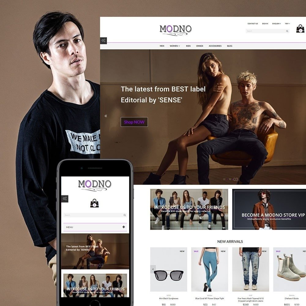 Prestashop Template: Modno - Clothing and Fashion Store. Theme for Prestashop
