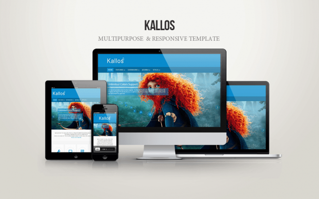 Joomla Template: Kallos Multipurpose Template for Joomla 3.x - FREE