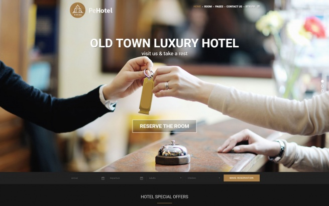 Wordpress Theme: Hotel WordPress Theme