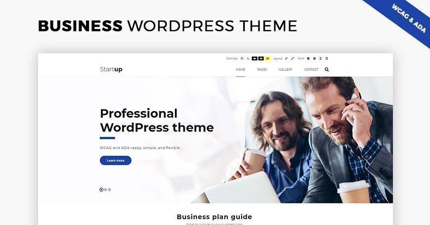 Wordpress Theme: Business WCAG & ADA WordPress theme