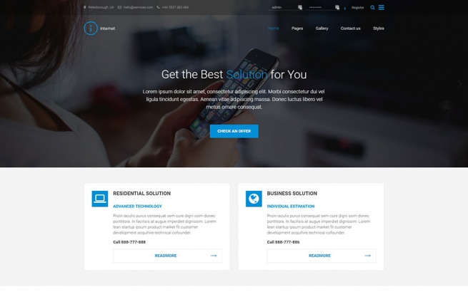 Wordpress Theme: PE Internet