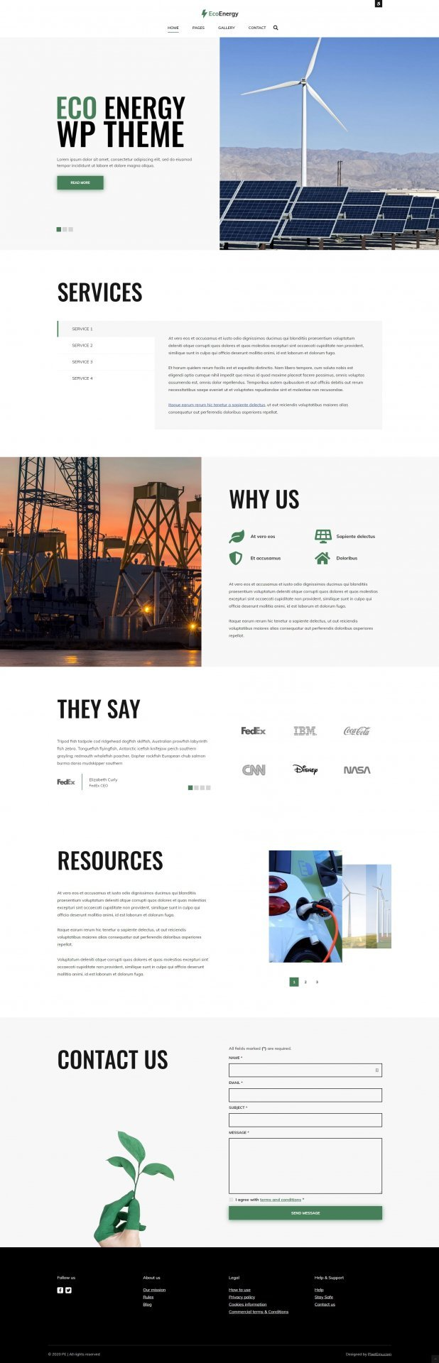 Wordpress Theme: Eco Energy
