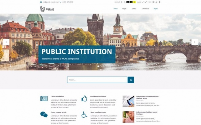 Wordpress Theme: Public Institutions & City WCAG and ADA WordPress theme