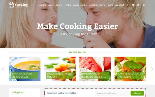 Wordpress Theme: PE Cooking Blog