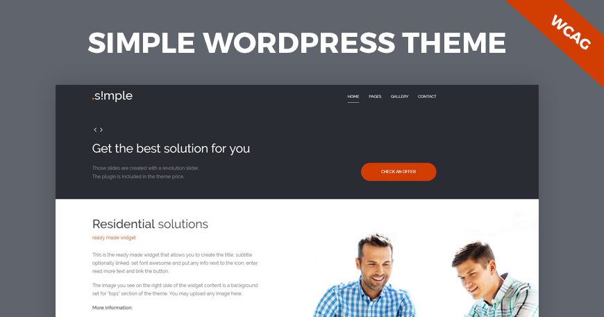 Wordpress Theme: Simple WCAG and ADA WordPress theme