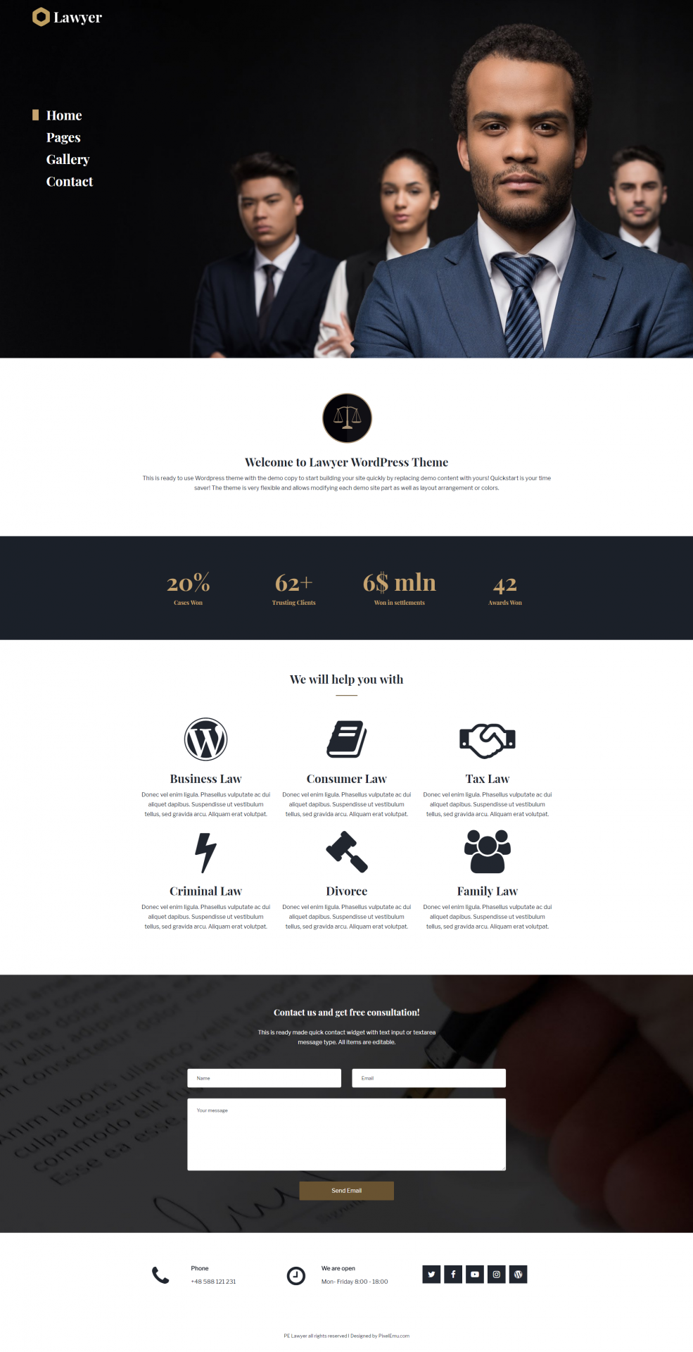 Wordpress Theme: Lawyer WCAG & ADA WordPress theme