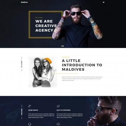 Wordpress Theme: Maldives - Portfolio WordPress Theme
