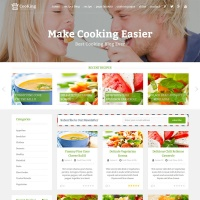 Wordpress Free Theme - Cooking Blog & food WordPress theme