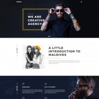 Wordpress Free Theme - Maldives - Portfolio WordPress Theme