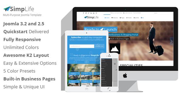 Joomla Template: SimpLife – Multi-purpose Joomla Template