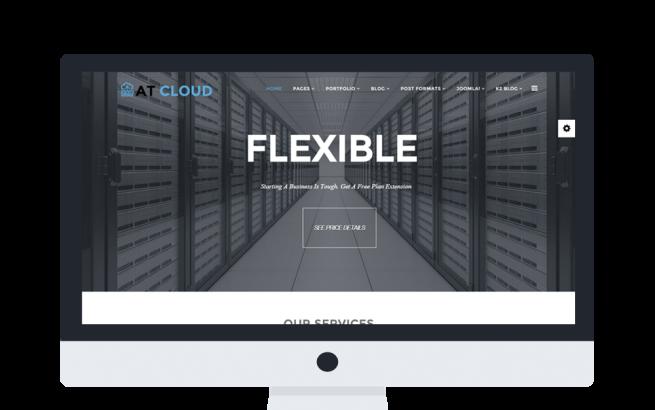 Joomla Template: AT Cloud Onepage – Free Server /Joomla template