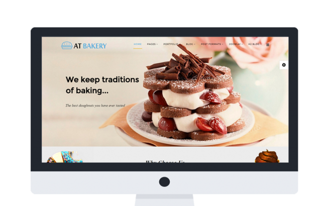 Joomla Template: AT Bakery Onepage – Free Bread Store /Joomla template