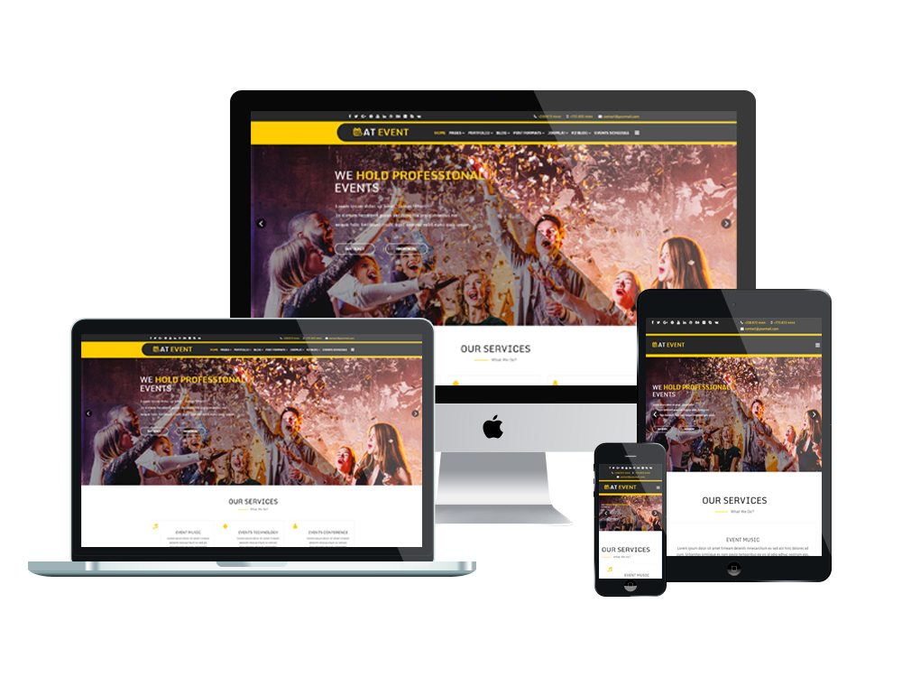 Joomla Template: AT Event – Free Responsive Conference Joomla! template