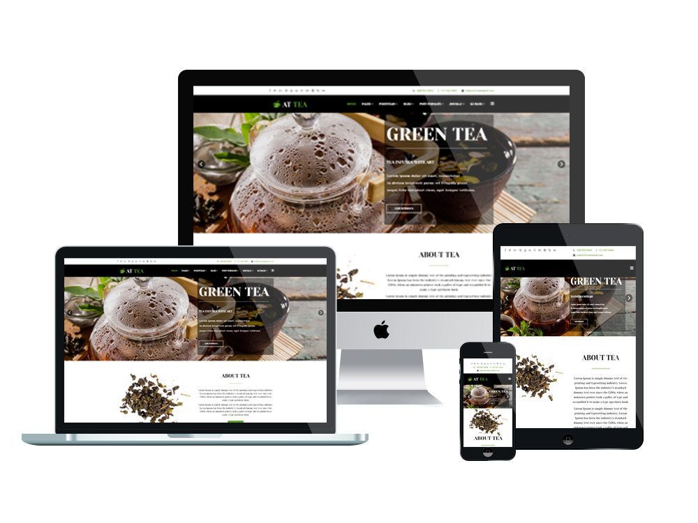 Joomla Template: AT Tea Onepage – Free Single Page Responsive Tea Website template