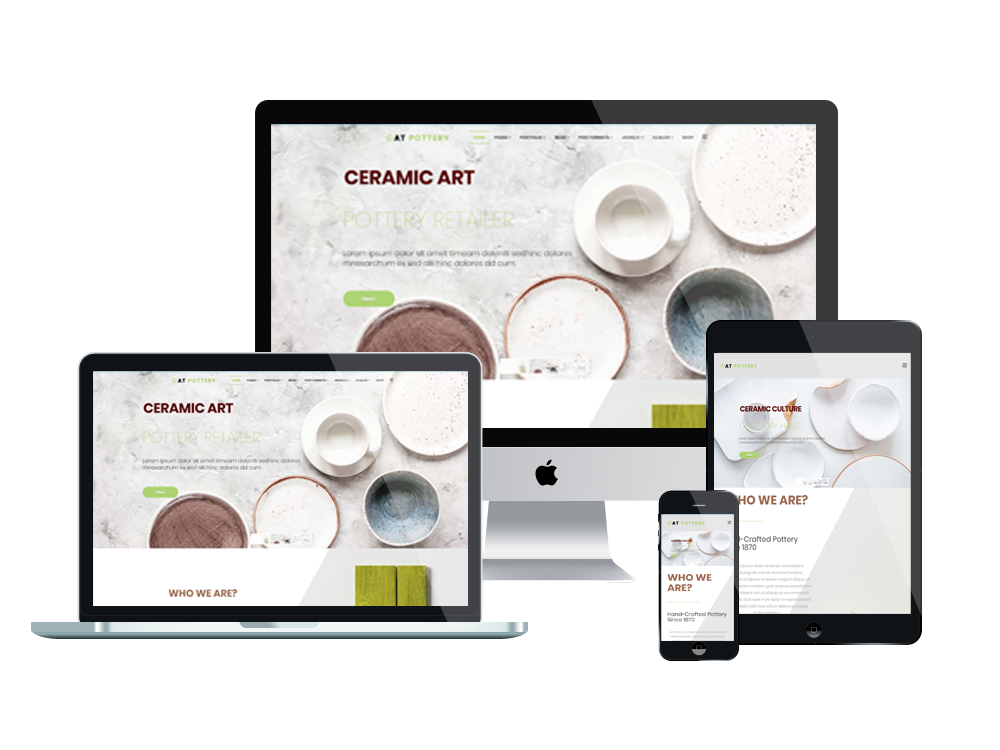 Joomla Template: AT Pottery – Free Responsive Pottery Website template