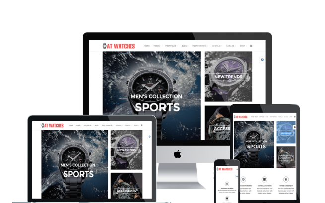 Joomla Template: AT Watches Shop – Free Watches Online Store Joomla template