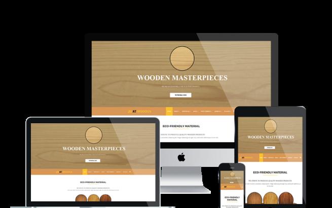 Joomla Template: AT WOODUS – Free Wooden Industrial Joomla Template.
