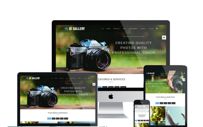 Joomla Template: AT Gallery – Photography / Image Gallery Joomla Template