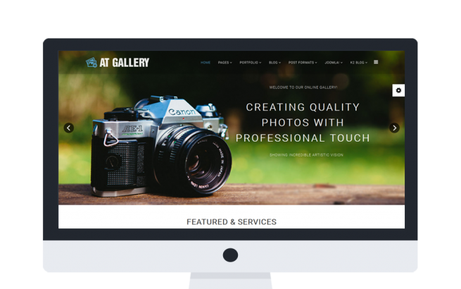 Joomla Template: AT Gallery Onepage – Photography / Joomla Template