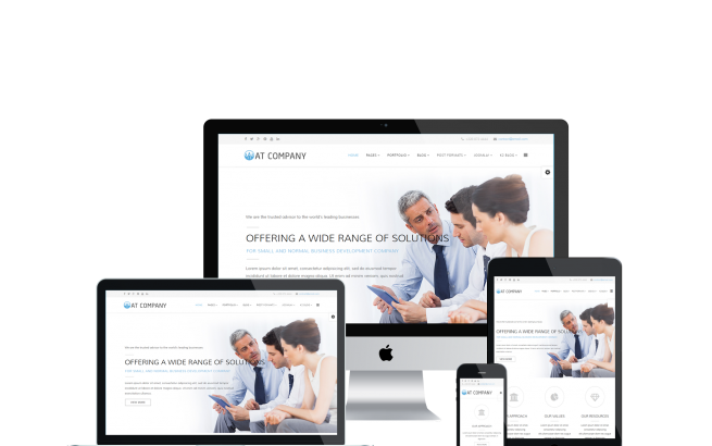 Joomla Template: AT Company – Premium Business / Company Joomla template
