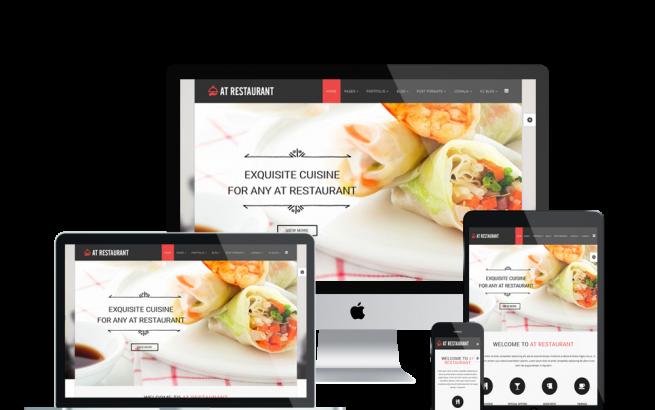 Joomla Template: AT Restaurant – Food Order / Restaurant Joomla Template