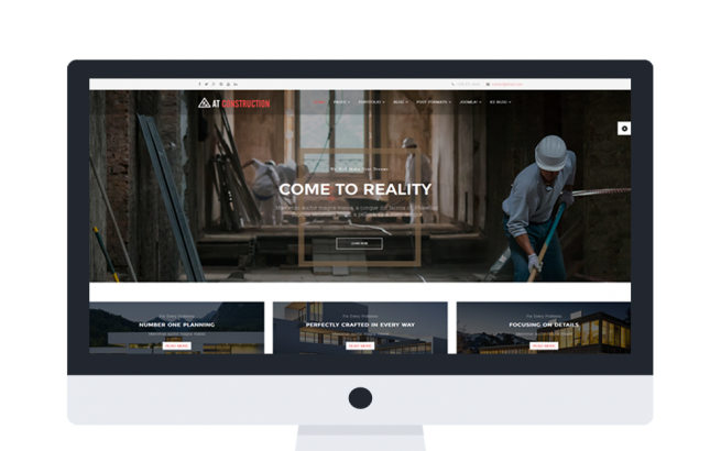 Joomla Template: AT CONSTRUCTION ONEPAGE – FREE HOUSE DESIGN / CONSTRUCTION ONEPAGE JOOMLA TEMPLATE