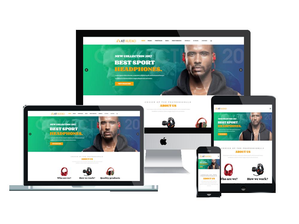 Joomla Template: AT Audio – Free Responsive Audio website template