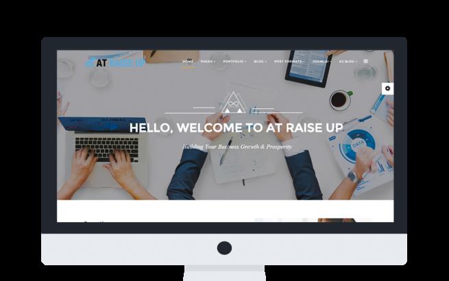 Joomla Template: AT Raise Up Onepage – Free Corporation /Joomla template