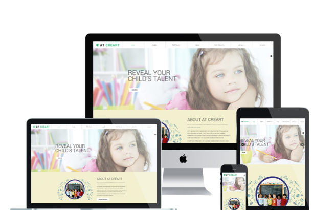 Joomla Template: AT CREART – FREE ART SCHOOL / GRAPHIC DESIGN JOOMLA TEMPLATE