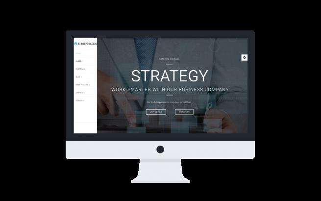 Joomla Template: AT Corporation Onepage –  Company / Joomla template