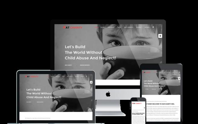 Joomla Template: AT Charity – Free Non-Profit / Charity Joomla template