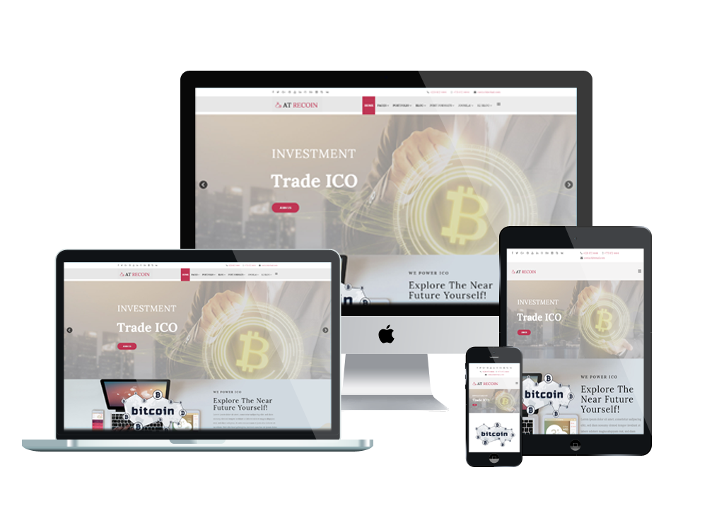 Wordpress Theme: AT ReCoin – Free Responsive Cryptocurrency Joomla Template