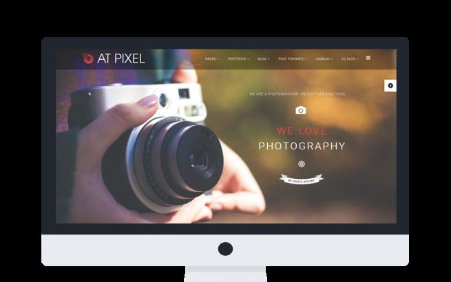 Joomla Template: AT Pixel Onepage – Photography Joomla Template