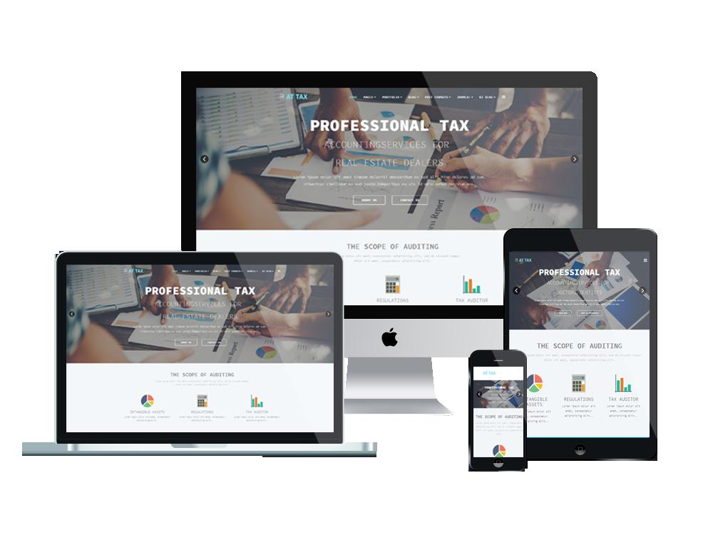 Joomla Template: AT Tax – Free Responsive Tax website templates