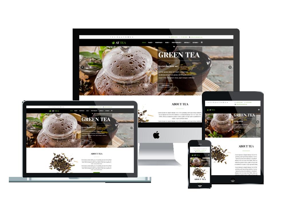 Joomla Template: AT Tea – Free Responsive Tea Website template
