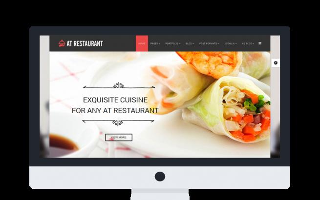Joomla Template: AT Restaurant Onepage – Food Order /Joomla Template