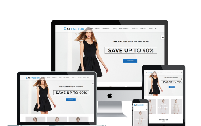 Joomla Template: AT Fashion Shop – Free Fashion Store / Clothes Shop Joomla template