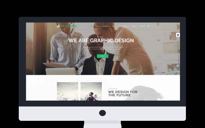 Joomla Template: AT GRAFIK ONEPAGE – FREE CREATIVE DESIGN / GRAPHIC ONEPAGE JOOMLA TEMPLATE