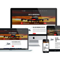 Joomla Templates: AT Airus - Free Responsive Private Airline Joomla template